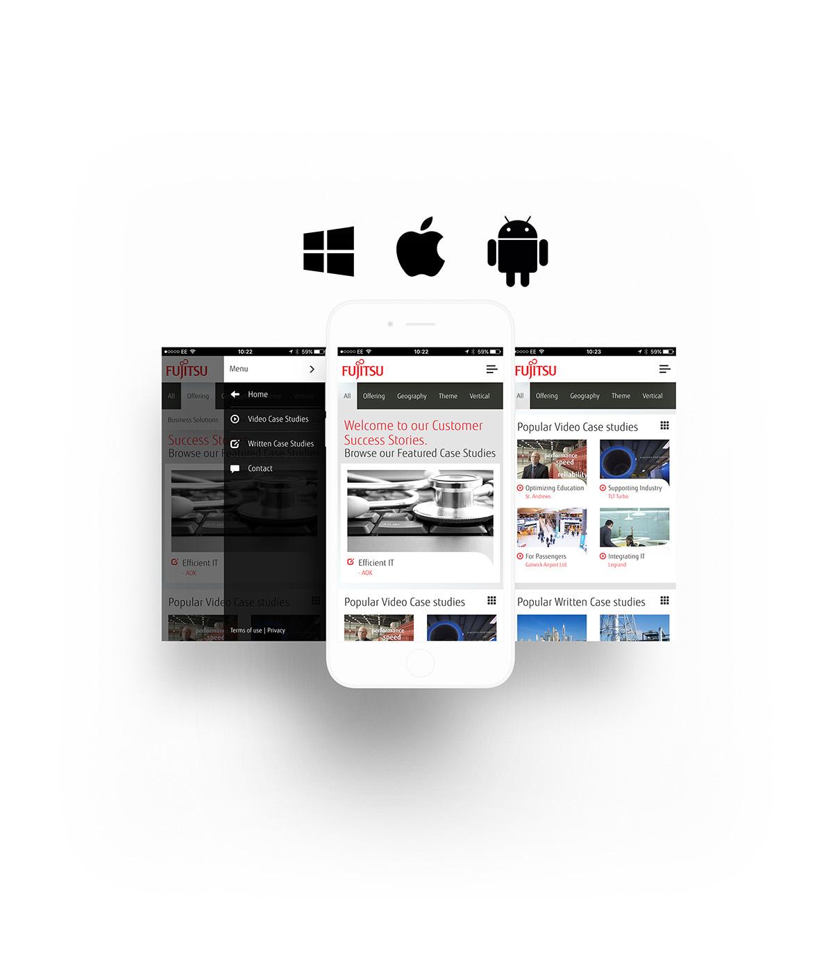 Fujitsu Customer Stories App