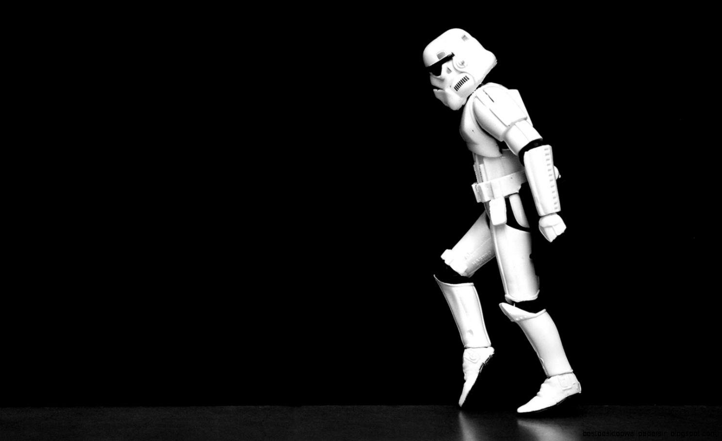 Storm-trooper moonwalking
